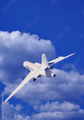 Foto op Aluminium Vliegtuig A passenger plane