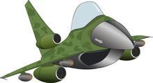 The Modern Military Jet Airplane Cartoon