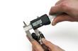Leinwandbild Motiv testing method -  sliding calliper