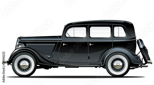 Vector vintage car