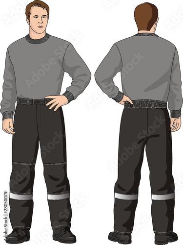 Fotografie, Obraz  The man in  trousers