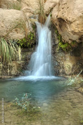 Foto op Canvas Watervallen Waterfall in the desert