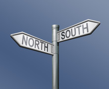 Roadsign North South