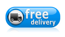 Blue Free Delivery Button