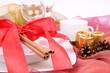 Christmas tableware with christmas decoration