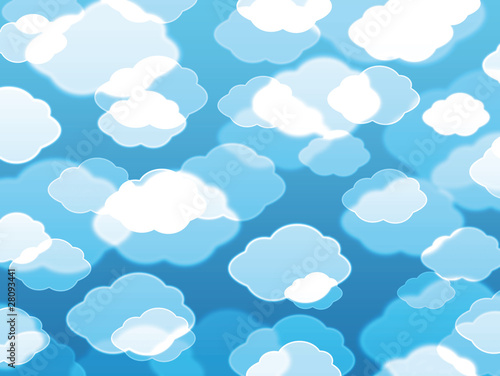 Poster Ciel Beautiful clouds background