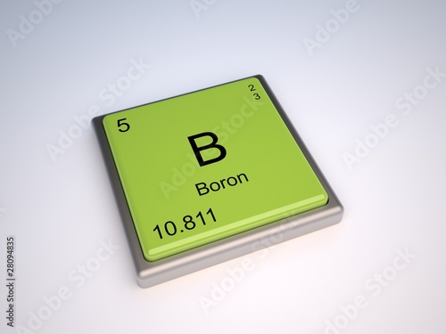 Boron Chemical Element Of Periodic Table With Symbol B Buy This