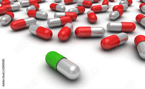 Fotografering  Medikamente, Pillen, Fälschung