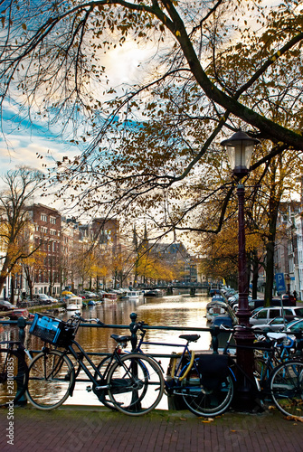 Fototapety, obrazy: bicycle in amsterdam
