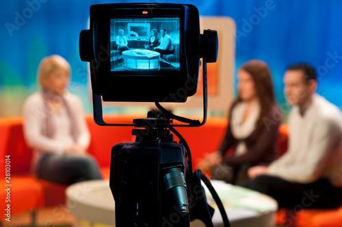 Obraz TV studio - Video camera viewfinder - fototapety do salonu