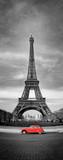 Fototapeta Fototapety Paryż - Tour Eiffel et voiture rouge- Paris