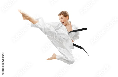 Staande foto Vechtsport Martial arts boy