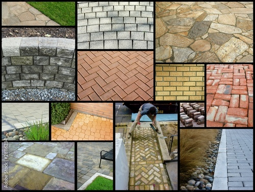 Photo sur Toile Saumon paving stones