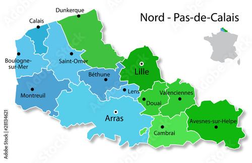 Carte Du Nord Pas De Calais Buy This Stock Vector And