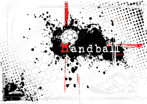 Fototapeta dirty handball background