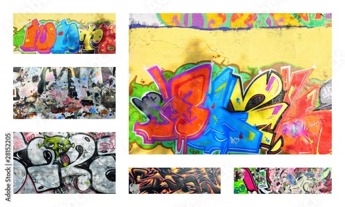 Deurstickers Graffiti collage graffiti