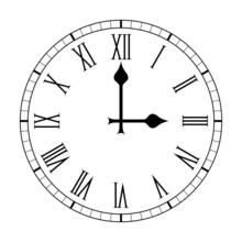 Plain Roman Numeral Clock Face...