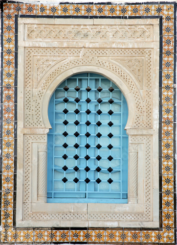 Fotografie, Obraz  Traditional window from Kairouan, Tunisia