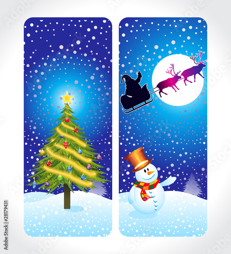 abstract christmas cards Poster Mural XXL