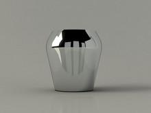 Metalic Vase On The Cray Background