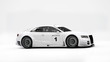 Sportcar in white studio 3D