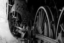 Wheels Of An Old Steam Locomot...