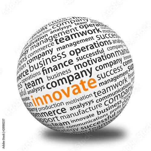 Fotografie, Obraz  Word Ball - Innovate