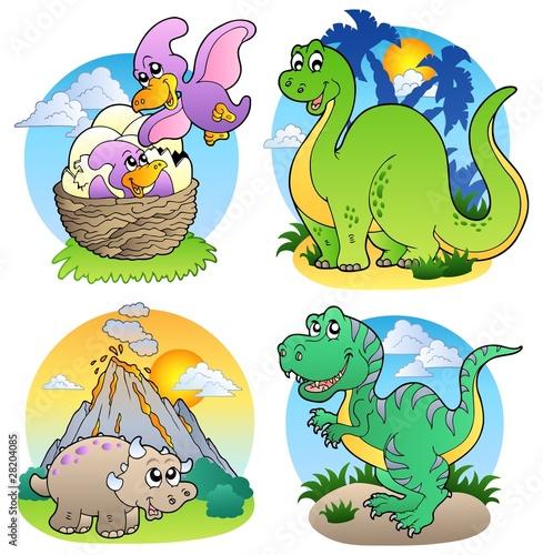Tuinposter Dinosaurs Various dinosaur images 2