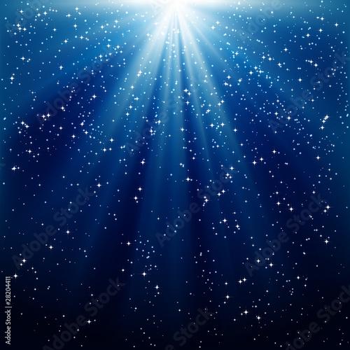 Obraz background of blue luminous rays - fototapety do salonu