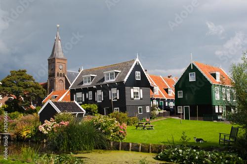 Foto auf AluDibond Stadt am Wasser Marken - Holland