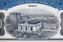 XXXL Engraving Grand Central Station Rail Road Stock Certificate