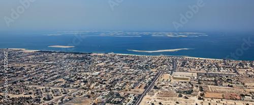"Fényképezés  Artificial island complex ""The World"". Dubai."