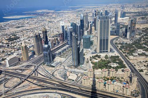 Tuinposter Skyscrapers in Dubai. UAE.