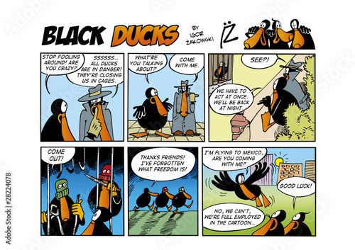 Deurstickers Comics Black Ducks Comic Strip episode 60