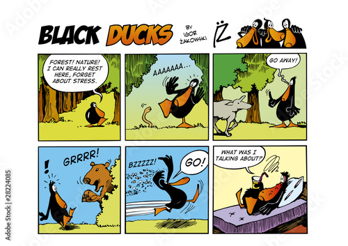 Tuinposter Comics Black Ducks Comic Strip episode 58