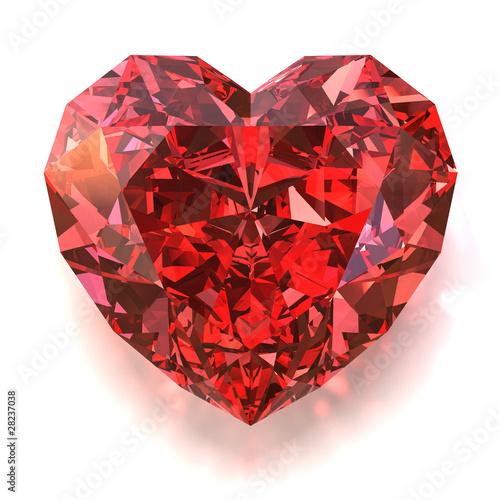Photo  Ruby heart