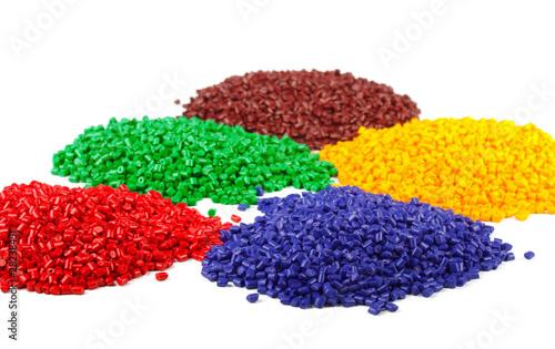 Fotografía  Colourful plastic polymer granules