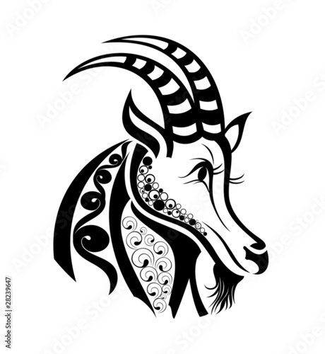 Zodiac Signs Capricorn Tattoo Design Buy This Stock