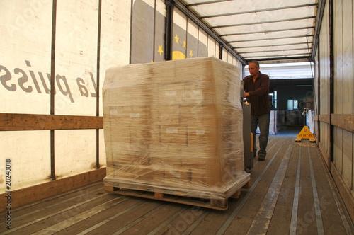 Obraz na płótnie déchargement de camion