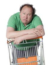 Homme Consommateur Confus Au S...