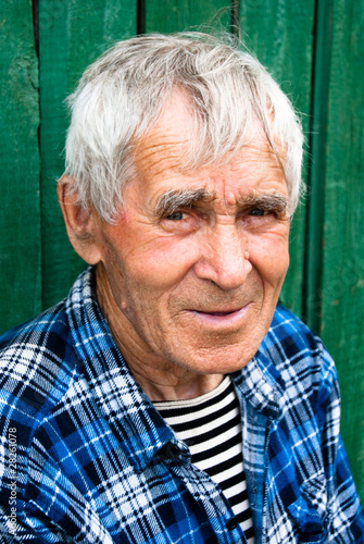 Smiling kind old men Fototapeta