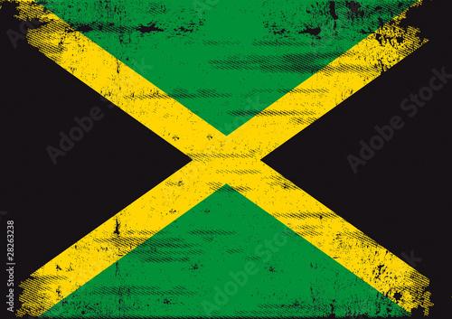 Photo Jamaican grunge flag