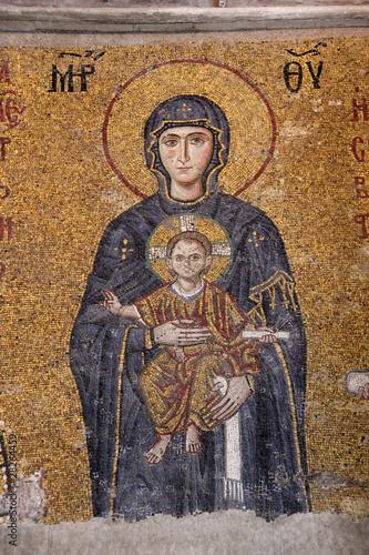 Fotografia Mosaik in der Hagia Sophia, Istanbul - Türkei