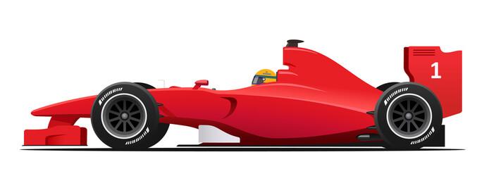 Formula race red detaljni automobil