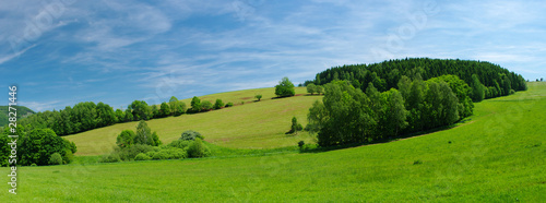 Tuinposter Heuvel Fresh summer meadow