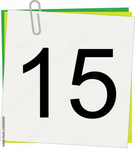 Calendario Giorno.Calendario Giorno 15 Buy This Stock Illustration And