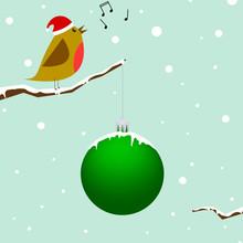 Singing Christmas Bird