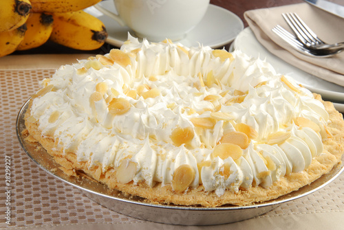 Fotografie, Obraz  Delicious banana cream pie
