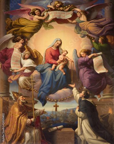 Obraz Święta Maria i mały Jezus z wiedeńskiego kościoła - fototapety do salonu