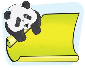 Fototapeta Panda Panda and ad